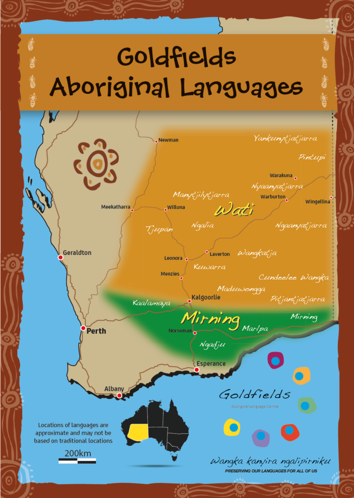 Map of Goldfields Languages