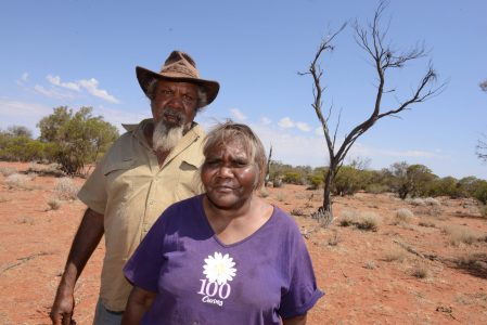 Aboriginal men and woman on country